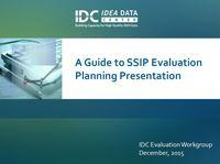 A Guide to SSIP Evaluation Planning Presentation