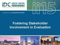 Fostering Stakeholder Involvement in Evaluation