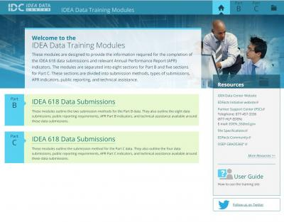IDEA Data Training Modules