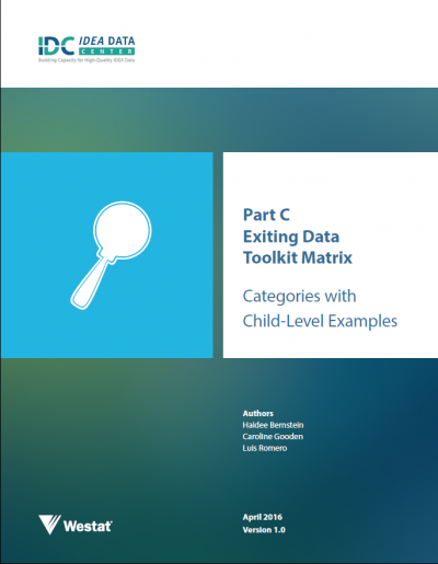 Part C Exiting Data Matrix: Categories with Child-Level Examples