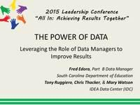 The Power of Data: Leveraging the Role of Data Managers to improve Results